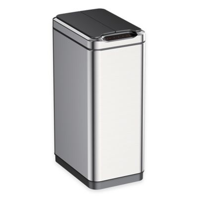 EKO Phantom Stainless Steel Rectangular 50-Liter Sensor Trash Can