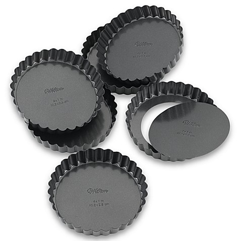 Wilton Indulgence® Professional 4-Inch Tart/Quiche Pan (Set of 6)