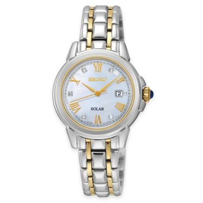 Seiko Ladies' Le Grand Sport Solar Diamond Dial Watch in Two-Tone Stainless Steel