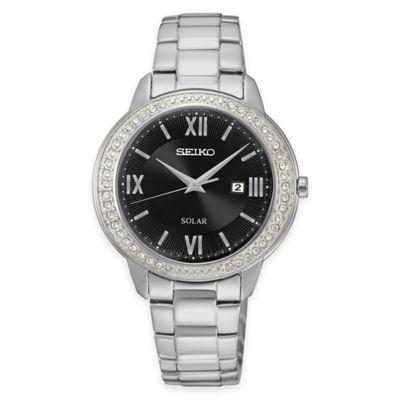 Seiko Ladies' Recraft Series Swarovski® Crystal Solar Watch in Stainless Steel