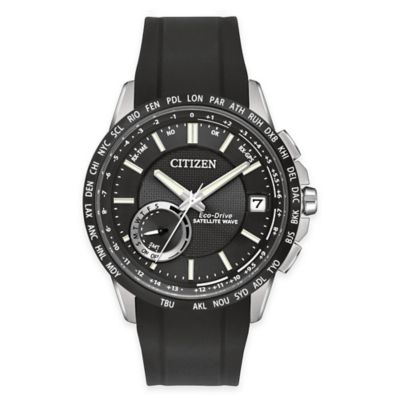 Citizen Eco-Drive Men's Satellite Wave World Time GPS Watch in Black Ion-Plated Stainless Steel