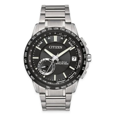 Citizen Eco-Drive Men's Satellite Wave World Time GPS Watch in Stainless Steel