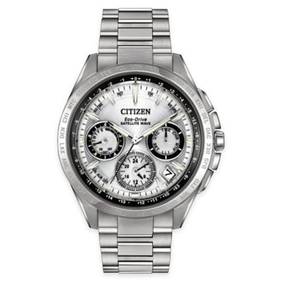 Citizen Satellite Wave F900 Men's 44mm Eco-Drive GPS Bracelet Watch in Stainless Steel