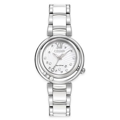 Citizen Eco-Drive Ladies' 30mm L Sunrise Diamond Watch in Stainless Steel