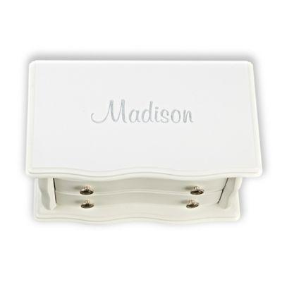 Bianca 3-Compartment Jewelry Box in White