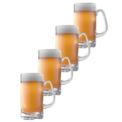 Wine Enthusiast Indoor/Outdoor Beer Mugs (Set of 4)