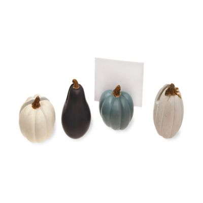 Boston International Artisanal Harvest Pumpkin Buffet Markers (Set of 4)