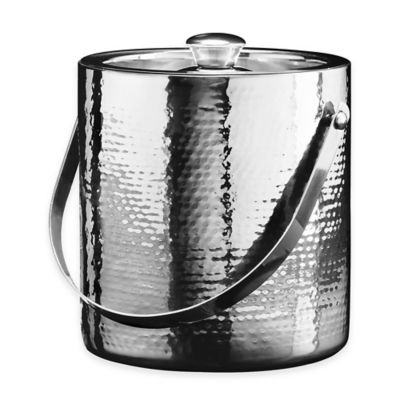 Oggi™ Stainless Steel Hammered Double Wall Ice Bucket