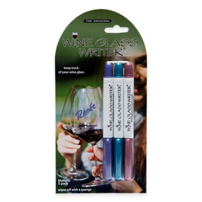 Wine Glass Writer® 3-Pack Washable Markers in Purple/Blue/Pinot