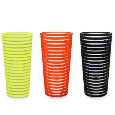 Zak! Designs® Stripe Highball Tumbler in Kiwi (Set of 6)