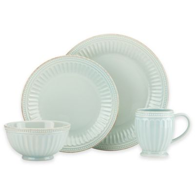 Lenox® French Perle Groove 4-Piece Place Setting in Ice Blue
