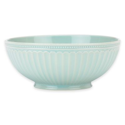 Lenox® French Perle Groove Serving Bowl in Ice Blue