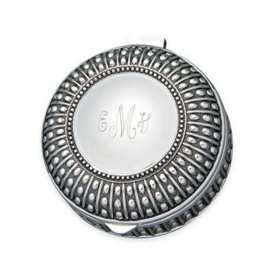 Small Beaded Antique Round Jewelry Box