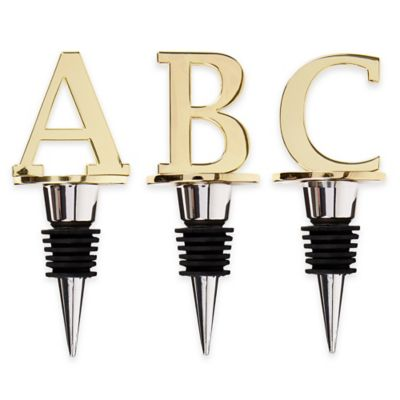 "Monogram Letter ""B"" Wine Stopper"