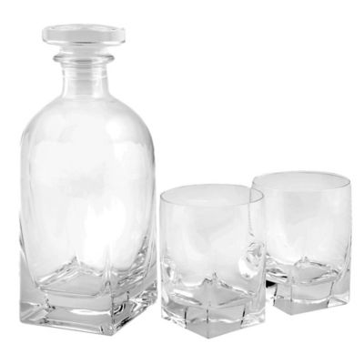 Luigi Bormioli Rossini 3-Piece Decanter Set