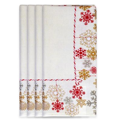 Let It Snow Napkins in Silver (Set of 4)