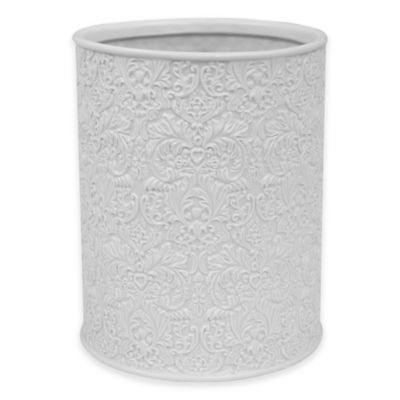 Jessica Simpson Lovely Wastebasket in Eggshell