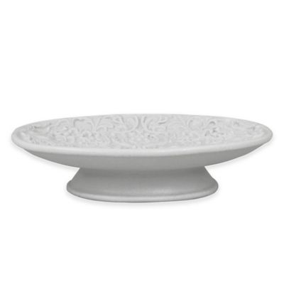 Jessica Simpson Lovely Soap Dish in Eggshell