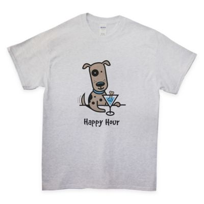 "Large ""Happy Hour"" T-Shirt in Grey"