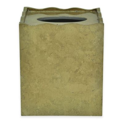 Jessica Simpson Hayden Boutique Tissue Box Cover in Gold