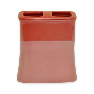 Jessica Simpson Kensley Toothbrush Holder in Coral