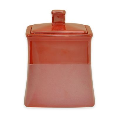 Jessica Simpson Kensley Covered Jar in Coral