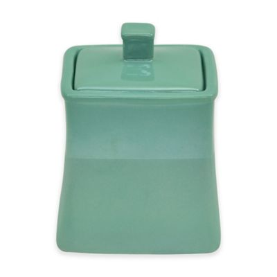 Jessica Simpson Kensley Covered Jar in Aqua