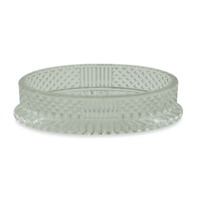 Jessica Simpson Diamond Cut Soap Dish in Clear