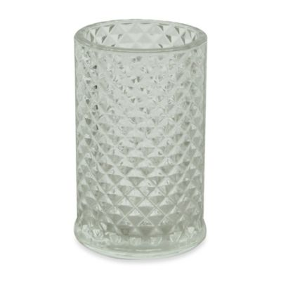 Jessica Simpson Diamond Cut Tumbler in Clear