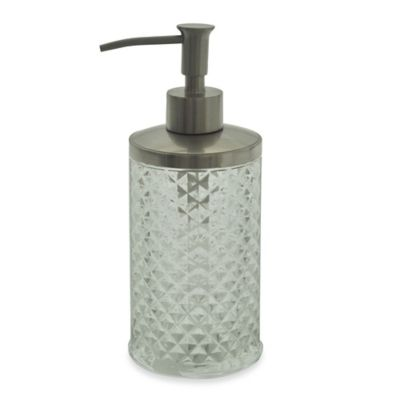 Jessica Simpson Diamond Cut Lotion Dispenser in Clear