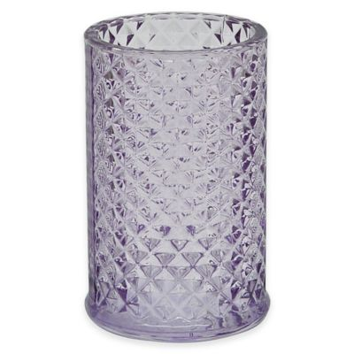 Jessica Simpson Diamond Cut Tumbler in Purple