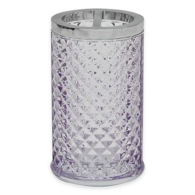 Jessica Simpson Diamond Cut Toothbrush Holder in Purple