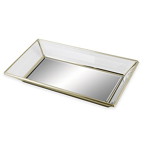 Mirrored guest towel tray for Mirrored bathroom tray