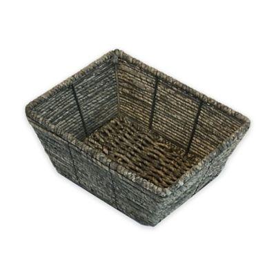 Christina Binded Maize Vanity Basket in Gray