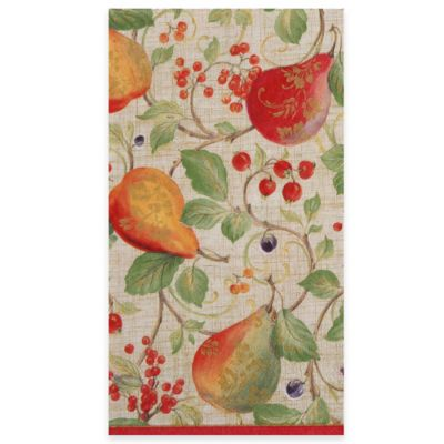 Decorated Pear 15-Count Paper Guest Towels