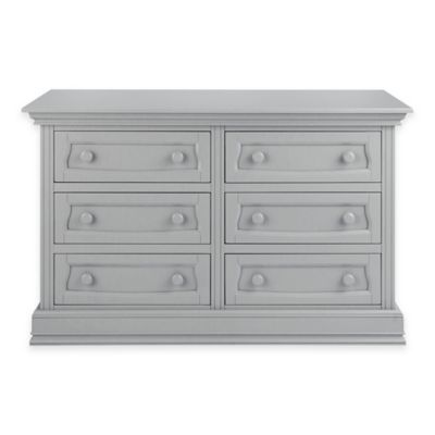 Baby Appleseed® 6-Drawer Double Dresser in Moon Grey