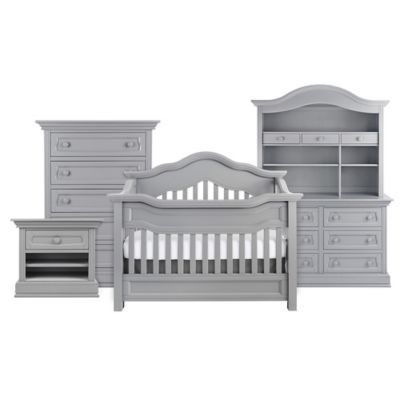 Baby Appleseed® Millbury 4-in-1 Convertible Crib in Moon Grey