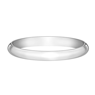 Platinum 2mm Size 4 Ladies' Domed Classic Wedding Band