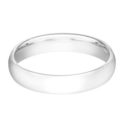 Platinum 5mm Size 7.5 Men's Classic Comfort-Fit Wedding Band
