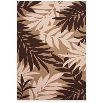 Jaipur Fern 5-Foot 3-Inch x 7-Foot 6-Inch Indoor/Outdoor Rug in Brown/Taupe