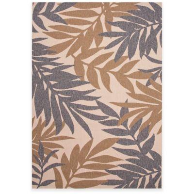 Jaipur Fern 5-Foot 3-Inch x 7-Foot 6-Inch Indoor/Outdoor Rug in Grey/Taupe