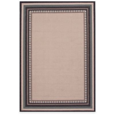 Jaipur Matted 5-Foot 3-Inch x 7-Foot 6-Inch Indoor/Outdoor Area Rug in Ivory/Black