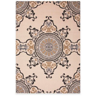 Jaipur Mobile 7-Foot 11-Inch x 10-Foot Indoor/Outdoor Area Rug in Taupe/Grey