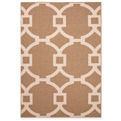 Jaipur Bloom Cordon 4-Foot x 5-Foot 3-Inch Indoor/Outdoor Area Rug in Taupe/Black