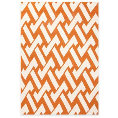 Jaipur Geometric Weave 2-Foot x 3-Foot Indoor/Outdoor Accent Rug in Green/White