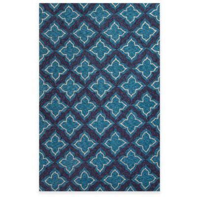 Jaipur Etoile 5-Foot x 7-Foot 6-Inch Indoor/Outdoor Area Rug in Blue