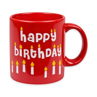 "Konitz ""Happy Birthday"" Mug in Red"