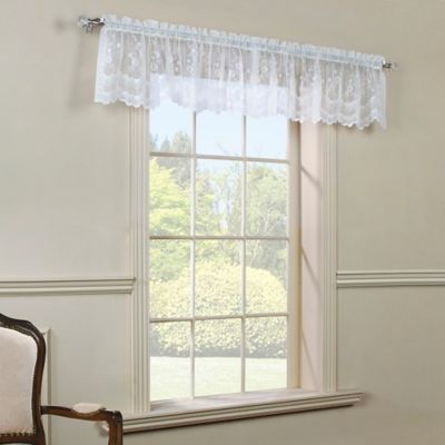Commonwealth Home Fashions Mona Lisa Scalloped Valance in White
