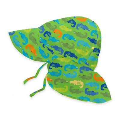 i play.® Size 9-18M Alligator Flap Sun Hat in Lime