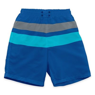 i play.® Size 6M Ultimate Swim Diaper Block Board Short in Royal/Aqua